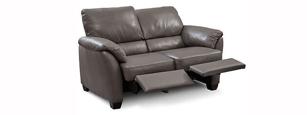 B693 Leather Reclining Loveseat