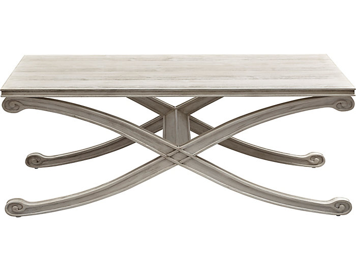 Camryn Rectangular Coffee Table, White, , large