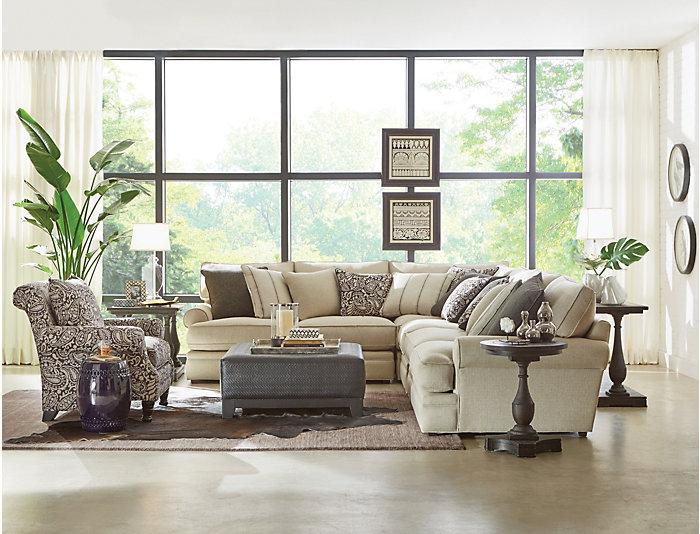 Hanover Sofa Table, Brown, , large