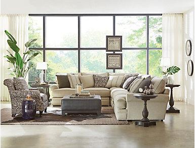 Hanover Brown Sofa Table, , large