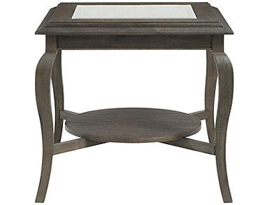 Raiden Rectangular End Table, Brown, , large