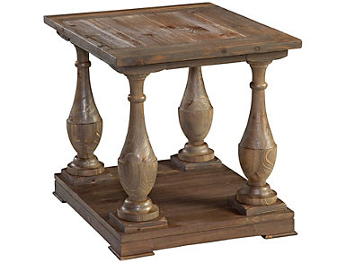 Hitchcock End Table, Brown, , large