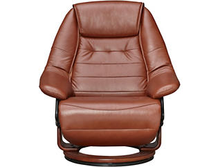 Dax Power Leather Swivel Recliner, , large
