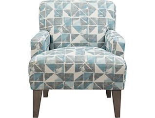 Randi Blue Geometric Chair, , large