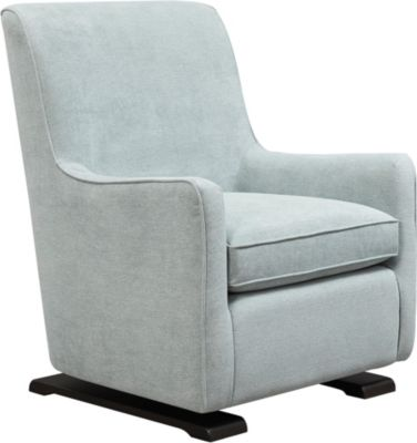 Coral Swivel Glider Chair, Blue, swatch