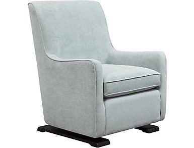 Coral Swivel Glider Chair, Blue, large