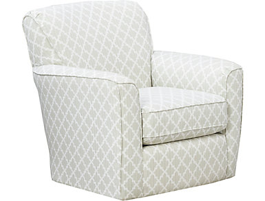Kaylee Swivel Glider Chair, Green, large