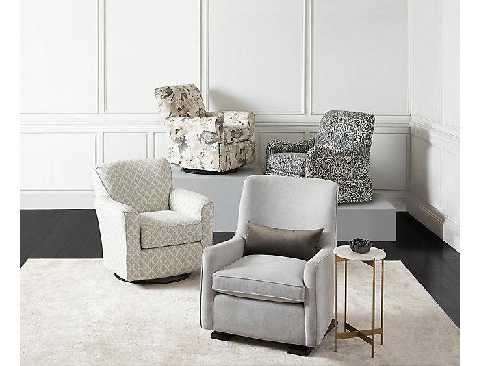 Superb Kaylee Sage Swivel Glider Chair Art Van Home Machost Co Dining Chair Design Ideas Machostcouk