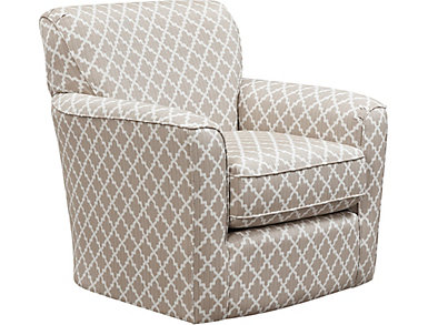 Kaylee Swivel Glider Chair, Beige, large