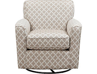 Kaylee Swivel Glider Chair, Silver, large