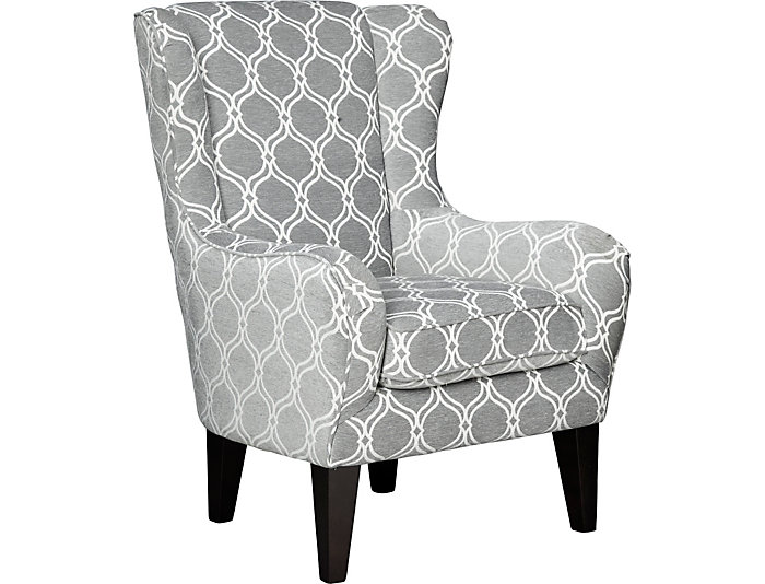 Lorette Grey Wing Back Chair Large
