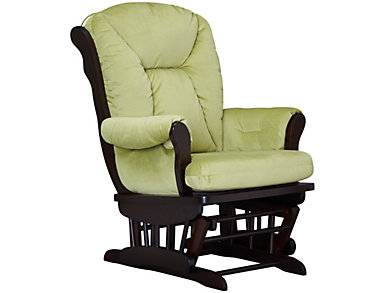 Chelsea II Grey Glider Rocker, Green, large