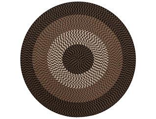 Briggs 6  Round Chocolate Rug, , large
