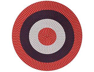 Afton 6  Round Americana Rug, , large