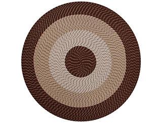 Afton 6  Round Brown Rug, , large