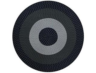 Afton 6  Round Blue Rug, , large