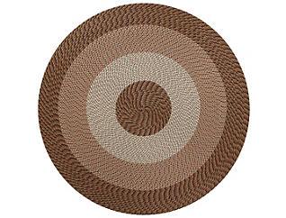 Afton 6  Round Natural Rug, , large