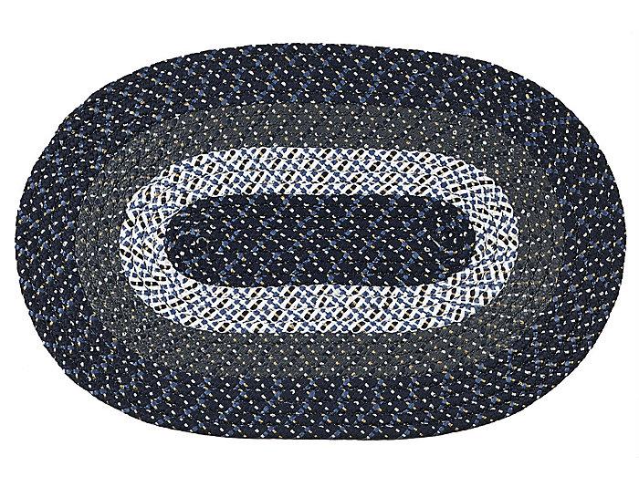 Afton Blue Stripe 8x11 Rug, , large