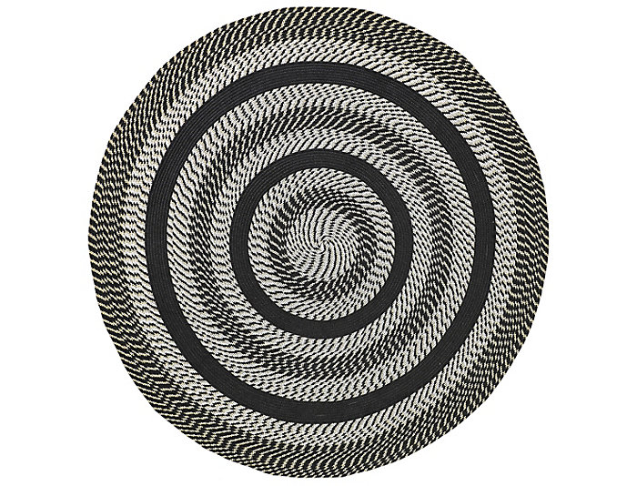 Colby 6  Black Round Rug, , large