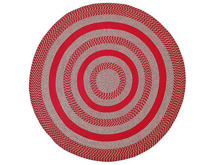 Colby 6  Round Red Rug, , large