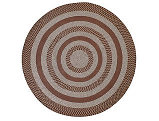 Colby 6  Round Chocolate Rug, , large