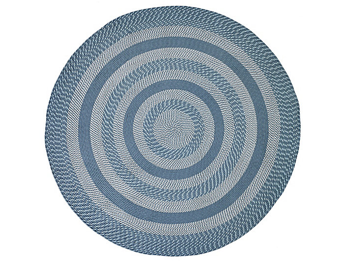 Colby 6  Round Blue Rug, , large