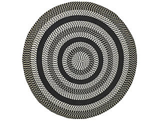 Colby 8  Round Black Rug, , large