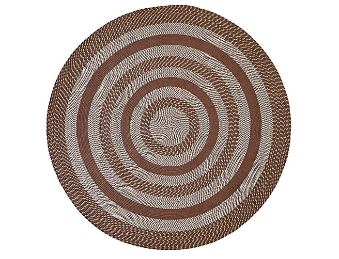 Colby 8  Round Chocolate Rug, , large