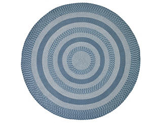 Colby 8  Round Blue Rug, , large
