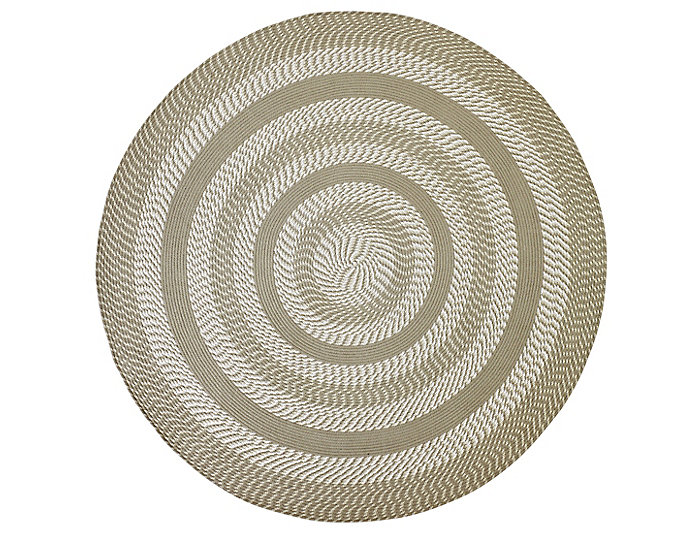 Colby 8  Round Tan Rug, , large