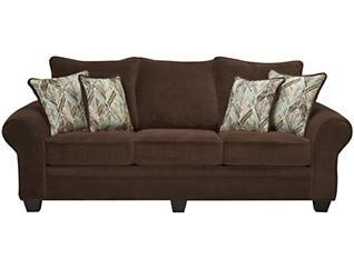 Hudson Sofa, Chocolate, Chocolate, large