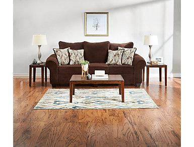 Hudson Chocolate Sofa, Chocolate, large