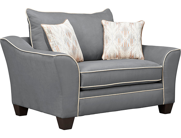 ... Logan Chair And A Half, Grey, , Large