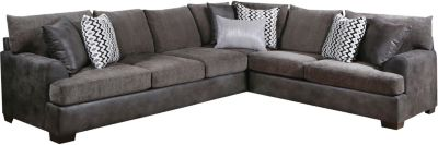 Newport 2 Piece Sectional, Grey, Grey, swatch