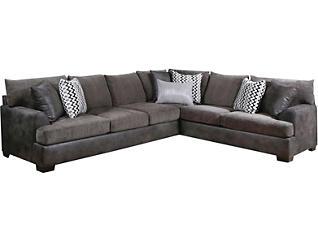 Newport 2 Piece Sectional, Grey, Grey, large