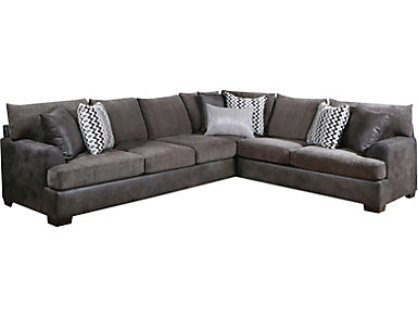Newport 2 Piece Sectional, Grey, Grey, large
