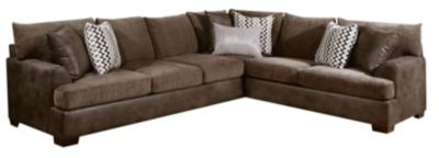Newport 2 Piece Sectional, Grey, Brown, swatch
