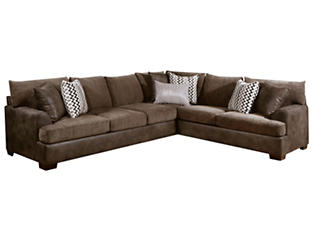 Newport 2 Piece Sectional, Brown, large