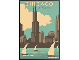 Chicago Windy City Vint Poster, , large