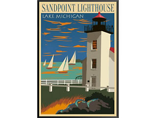 Sand Point Lighthouse - Giclee, , large