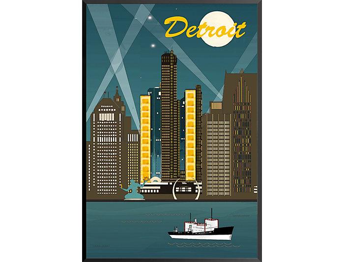 Detroit Skyline Poster, , large