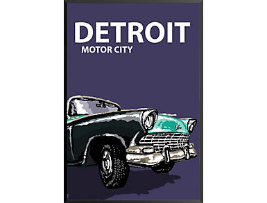 Detroit Motor City Poster, , large
