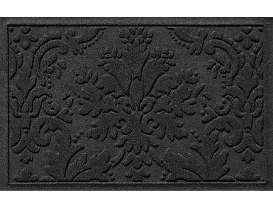 2'x3' Damask Charcol  Doormat, , large