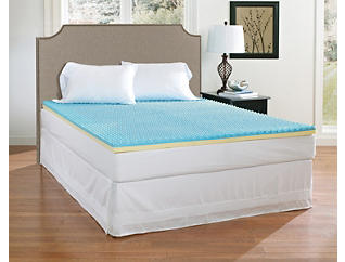 "Broyhill 2"" Gel Memory Foam Topper-King, , large"