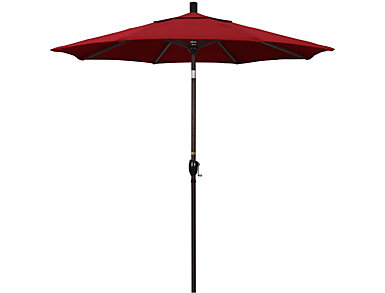Kapolei 7.5' Red Umbrella, , large