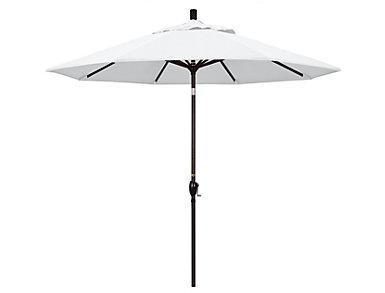 Waianae 9' White Umbrella, , large
