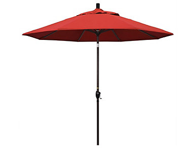 Waianae 9' Red Umbrella, , large