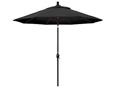 Waianae 9' Black Umbrella, , large
