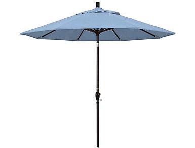 Aiea 9' Sky Blue Umbrella, , large