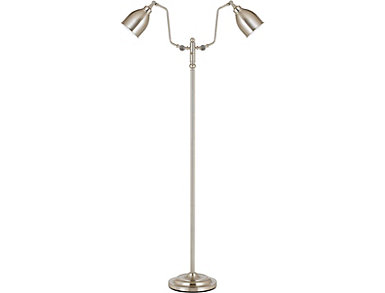 Dual Light Pharmacy Floor Lamp with Metal Shade, , large